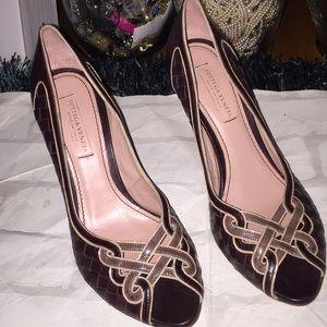 Cute brown Bottega Veneta heels sz 36!